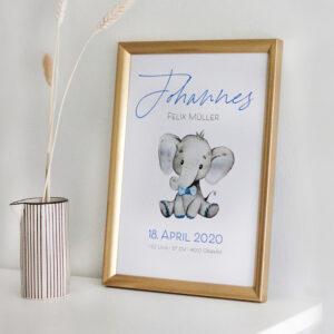 Baby-Poster | Elefant | Fuchs