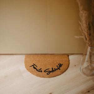 personalisierte Fußmatte   rund