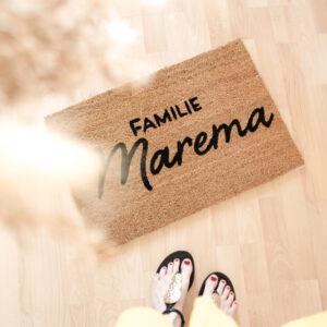 personalisierte Fußmatte   rechteckig