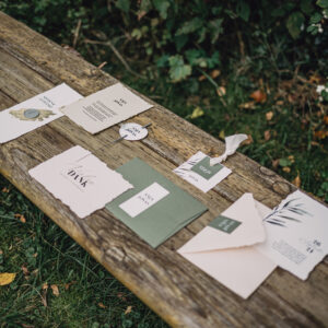 Papeterie   Olive Kiss   Save-the-Date-Karte